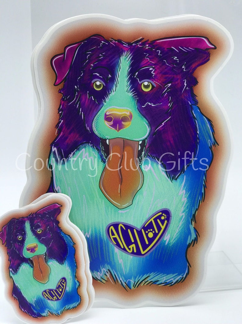 Border Collie Border Collie Agility Car Decal  Full Color image 0