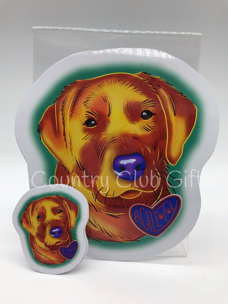 Yellow Lab Yellow Lab Car Decal  Full Color Car Decal  Dog image 0