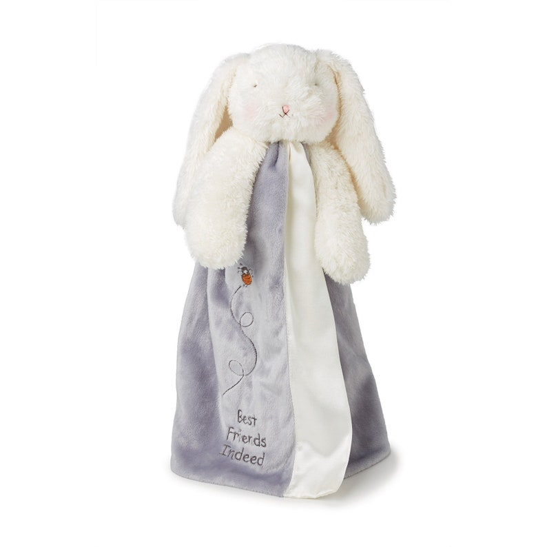 Personalized bunny  Security Blanket  Embroidered bunny  image 0