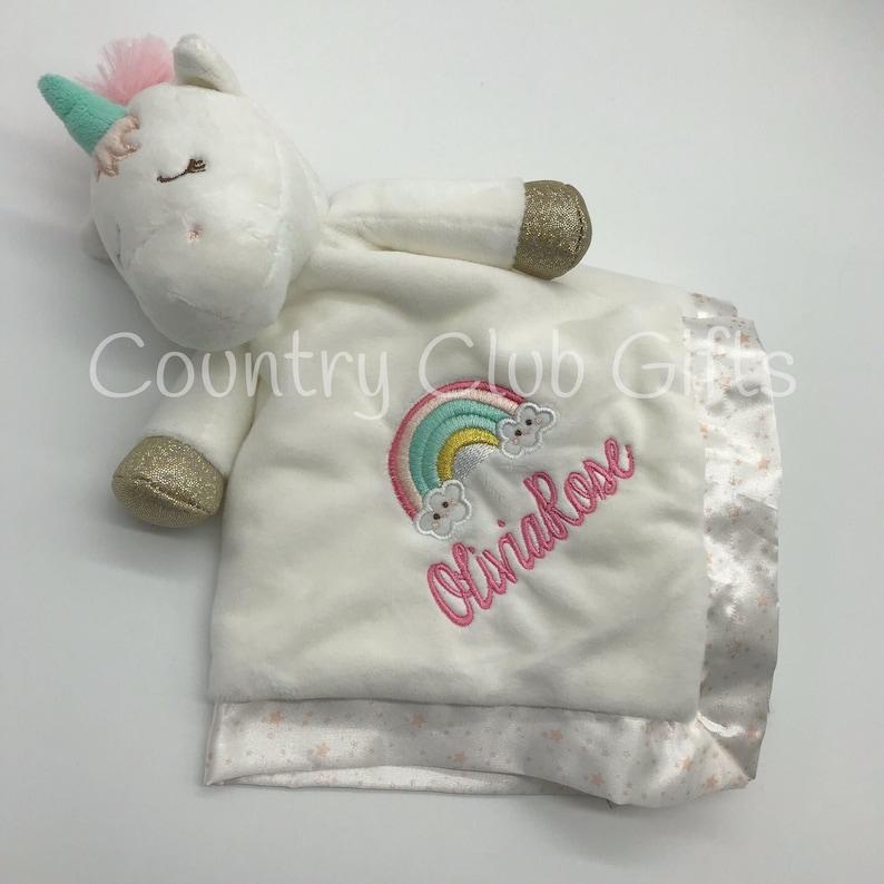 Personalized Unicorn  Unicorn Baby blanket  Baby shower gift image 0