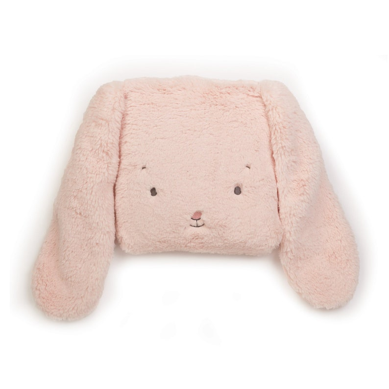 Personalized pillow bunny blanket  Pink blanket  Baby image 0