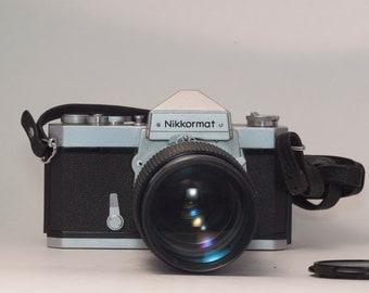 Nikon Nikkormat FTn 35mm film SLR // includes Vivitar Series 1  70-210mm f3.5 high quality + fast zoom lens // film tested