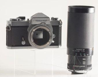 Nikon Nikkormat FTn 35mm film SLR // includes Tamron SP 70-210mm f3.5 high quality + fast zoom lens // film tested