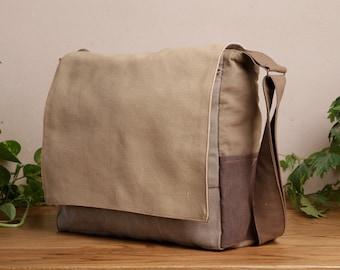 56c0dba0e4 Large Brown Messenger Bag For Man
