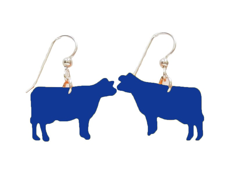 Colored cow earrings image 0