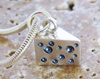 Sterling silver cheese wedge charm