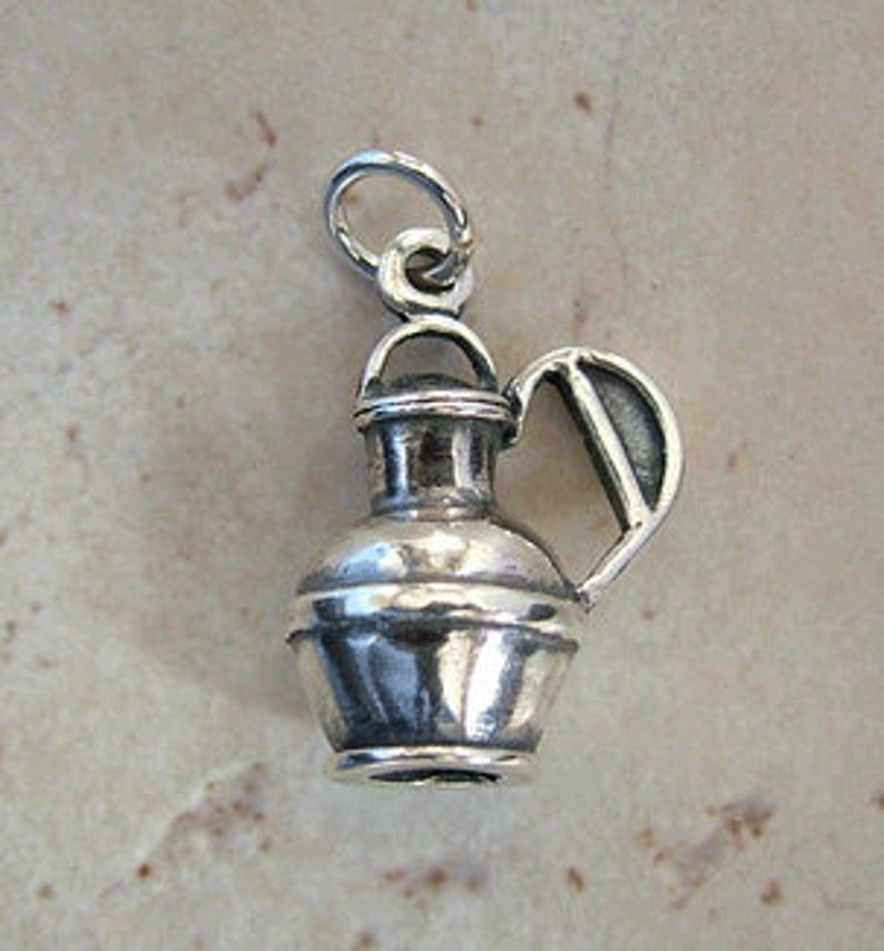 Sterling silver Jersey Jug milk can charm image 0