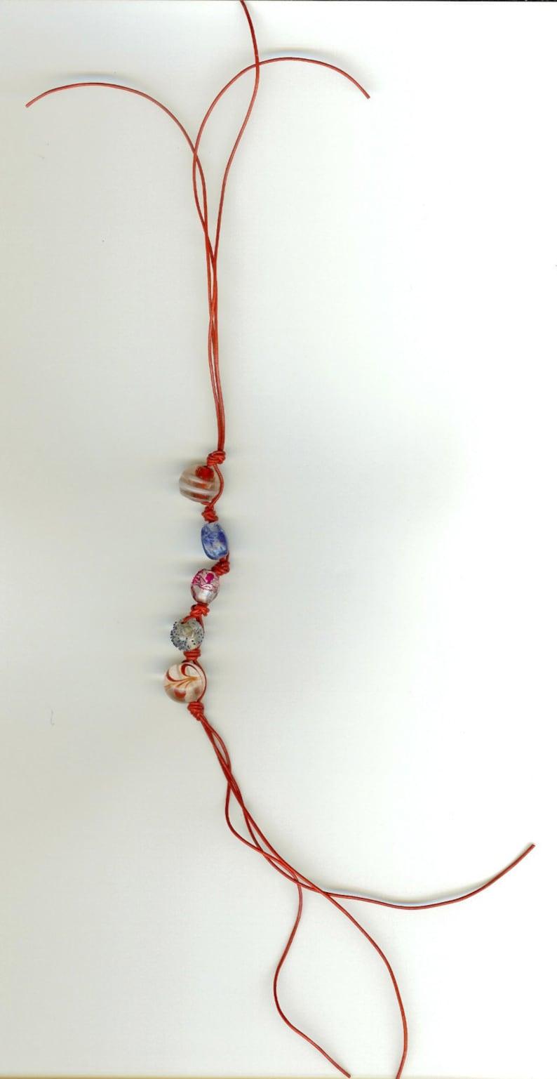 Leather Multi-Colored Beaded Ankle BraceletBracelet Patriotic