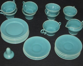 Vintage Franciscan Ware El Patio Dishes 25 piece Lot Turquoise Cups Saucers Bread Plates Mid-Century Atomic Ranch Dinnerware & Atomic dinnerware | Etsy