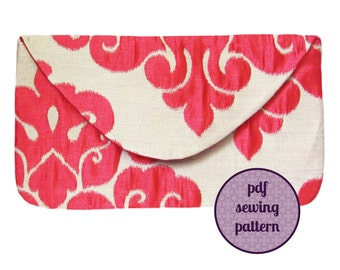 sewing pattern - evening envelope clutch (PDF available for immediate download)