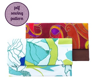 sewing pattern - mini envelope clutch (PDF for immediate download)