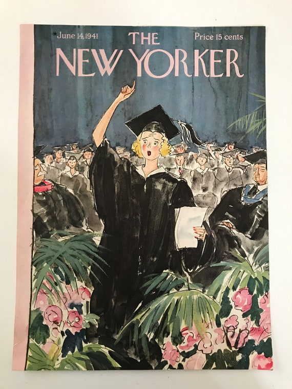 The New Yorker Magazine Original Cover June 19 1941 Etsy