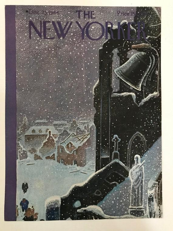 The New Yorker Magazine Original Cover Dec 23 1944 Rea Etsy
