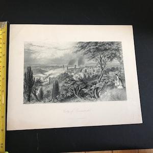 1872 City of Milwaukee Antique Engraving New York D Appleton Co