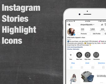20 Chalkboard Instagram Stories Highlight Icons, Social Media Icons, Yoga, Beauty, Coffee, Story Images, Vector, Illustrator, Customizable