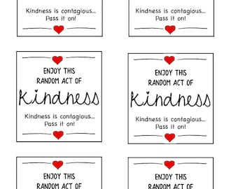 graphic about Random Act of Kindness Printable titled Functions of kindness Etsy
