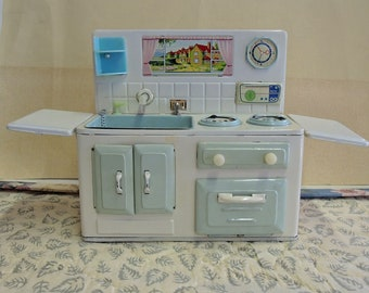 Doll Size Sink And Stove Combination, Miniature Kitchen Sink And Stove,  Toy Kitchen Sink, Toy Stove