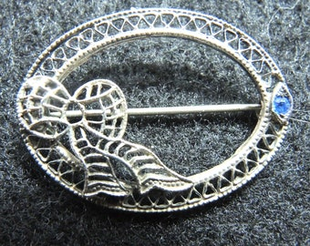 7879cff31 Sterling Silver Filigree Lingerie Pin