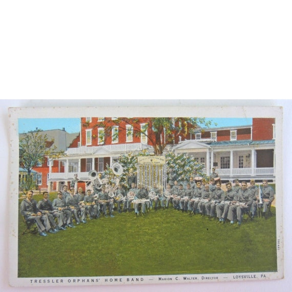 Vintage Postcard, Tressler Orphans' Home Band, Loysville, Perry County Pa