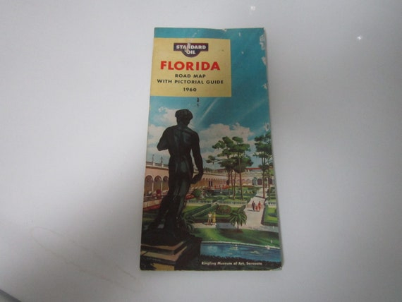 1960 FLORIDA Road Map - Standard Oil - Pictorial Guide - Rogers Brothers on map of ferry, map of crane, map of lindstrom, map of whitaker, map of axtell, map of mabelvale, map of bottineau, map of winsted, map of carter, map of morr, map of carr, map of matthews, map of hubbard, map of st anthony, map of waite park, map of crittenden county, map of null, map of bankhead, map of andrews, map of shore,