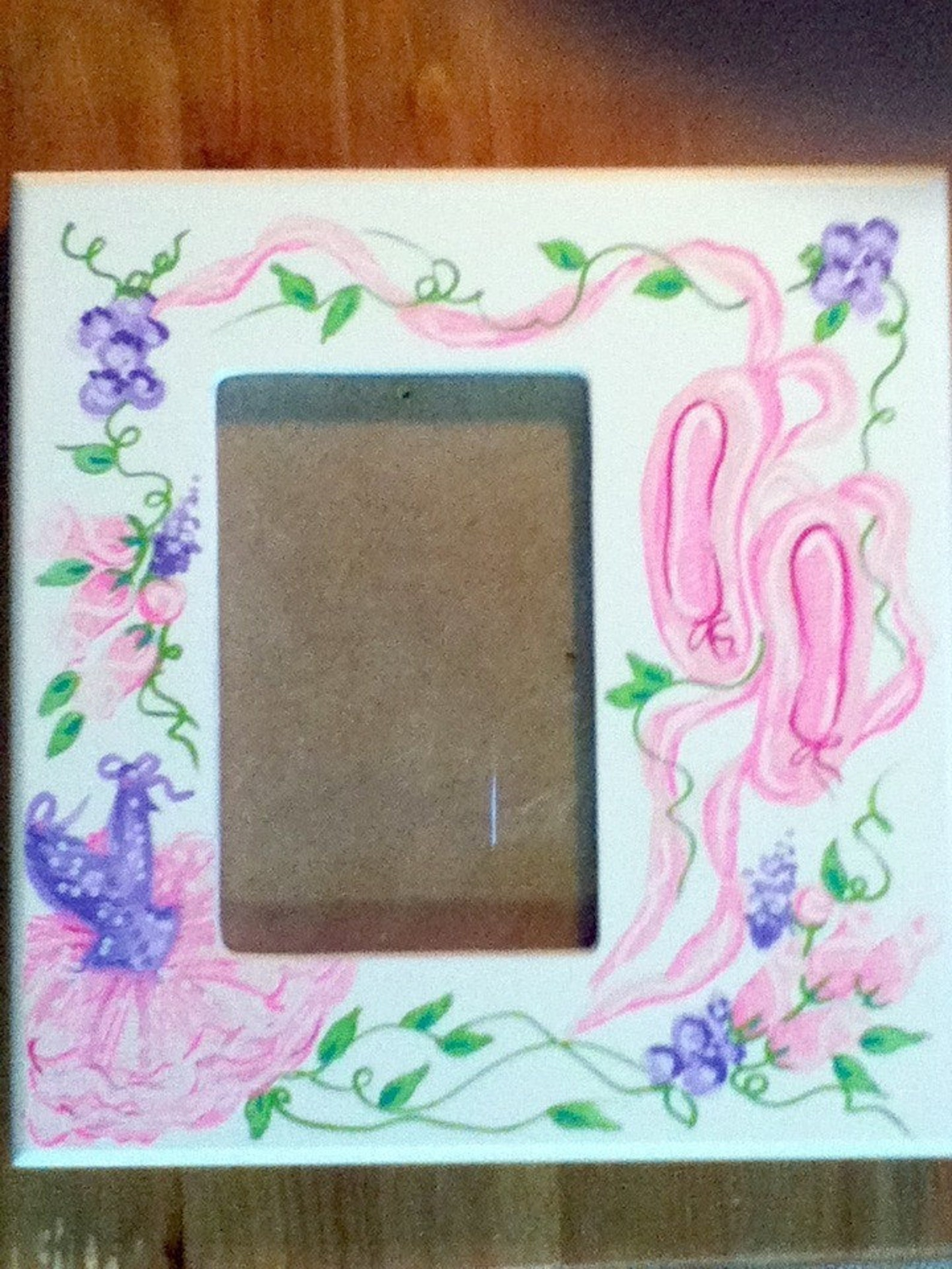 picture frame pastel ballet recital dance handpainted and personalized