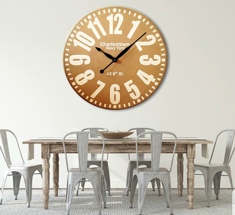 36in Big Clock Large Wall Clock Personalized Clocks Gift Etsy