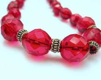 Firey Rubies Necklace