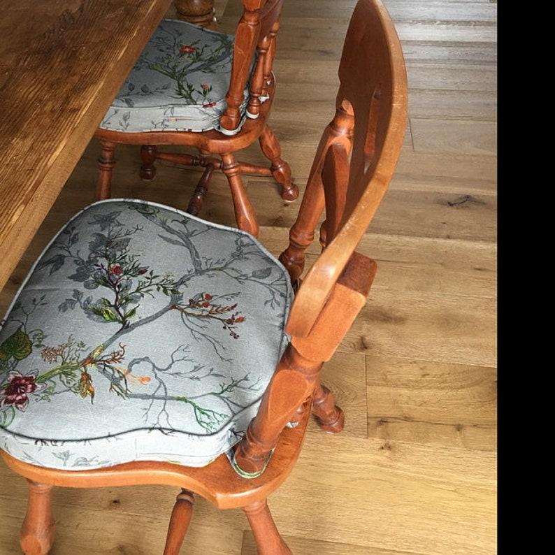 Custom Chair Cushion Cushions With High Density Foam Etsy