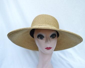 9111dbb58429a Large Brim Toast Tweed Straw Sun Hat   5 Inch Kettle Brim Sun Hat    Vacation Hat   Summer Hat   Packable Hat