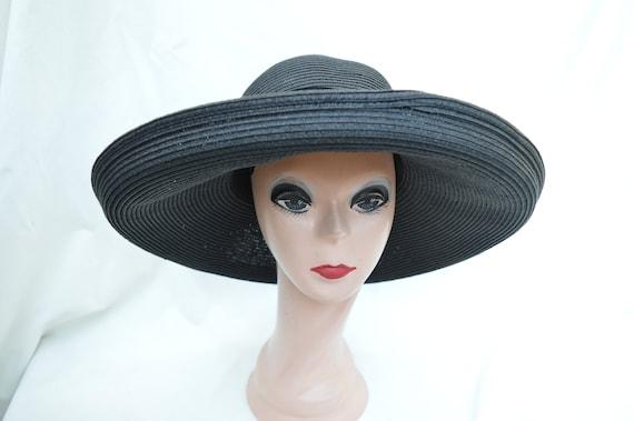 c3ae206faff18 Large Head Size Kettle Brim Black Straw Sun Hat   Womens Sun