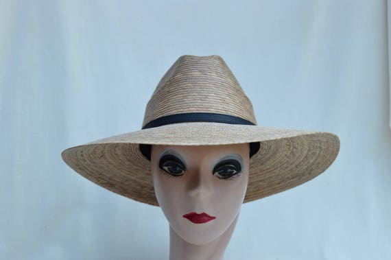 Palm Straw Large Brim Sun Hat   Women s Medium Through XXL  bb398a5fb2