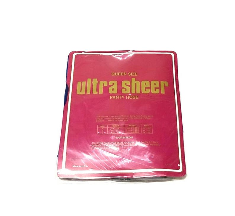 Vintage NOS 1970s Olympia Ultra Sheer Royal Blue Panty Hose Queen Size