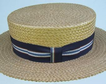 7 1 4 - Vintage Kimball Men s Straw Boater fcf8b4b5b34