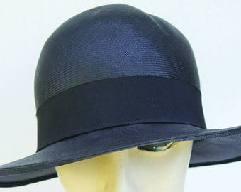 e33fe22ad0d 7 1 4 - 1920 s Vintage Black Straw Women s Cloche Hat