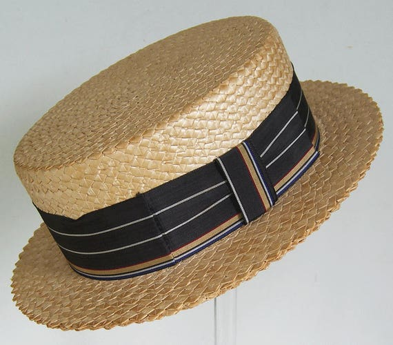 7 1/8 - Vintage Summer Straw Men's Boater