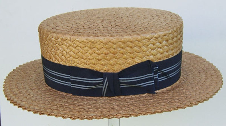 6898b3001ba39 22 3 4 Vintage Mens CHAMP Summer Straw Boater Hat