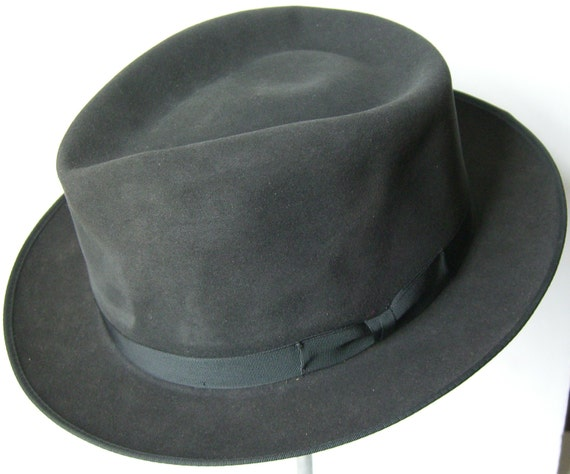 03c9de12866 7 1 2 Royal Stetson Vintage Dark Gray Men s Fedora Hat