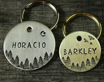 Dog name tag - custom made for your pet - Id tag Pet gift