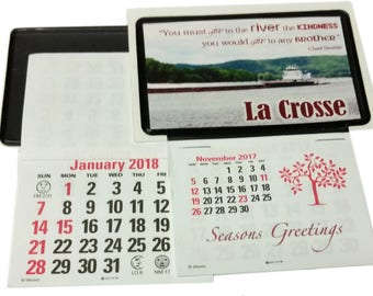 Clear vinyl pocket etsy 3 stick up business card pocket calendars nov 2017 plus full 2018 clear pocket 4 personalized with photos diy projects reheart Gallery