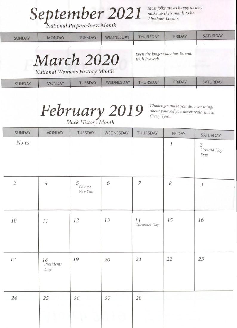 Pocket Calendar.25 Pocket Calendar 2 Year 2019 2020 Insert Only