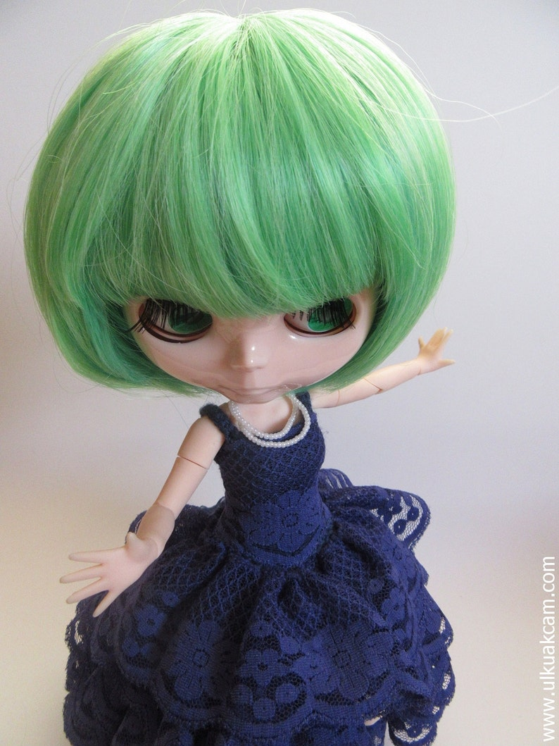 OOAK  Bluenavy Evening Gown for Blythe