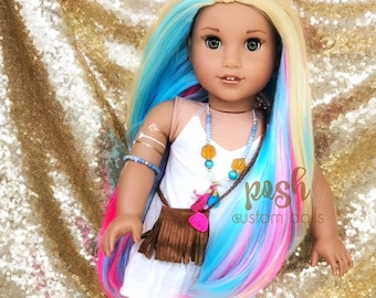 d22931db13a Custom American Girl Doll Wig for 18