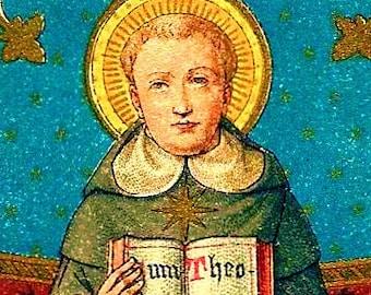 """Icon Saint Thomas Aquinas. 5"""" X 7"""" Print. Gorgeous. Patron Saint of Academics & Philosophers."""