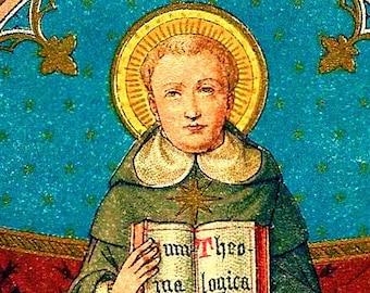 "Icon St Thomas Aquinas 5"" X 7"" Print. Beautiful image of This great Saint."