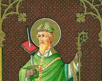 "Icon St Boniface 5"" X 7"" Print. Beautiful image of This great Saint. Patron Saint of Germany, Brewers, and Tailers."
