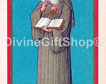 "Icon St Gertrude  The Great. 5"" X 7"" Print. Gorgeous."
