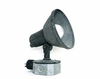 Some Light - Vintage Stonco Industrial Light - Silver - Gray - Winter - Men - Home - Decor - Holidays - Lighting