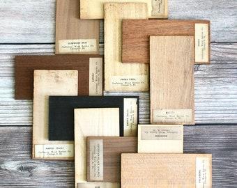 Wood for Sale - Vintage Salesman Samples - Supplies - Vintage Advertising - Mid Century