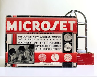 Let's Have a Look - Vintage Microscope Set - Educational - Science