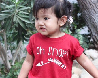 Oh snap! shortsleeve shirt. Crayon shirt. Toddler and youth sizes. Oh snap shirt. crayon shirt.